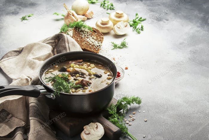 vegetable mushroom hot soup