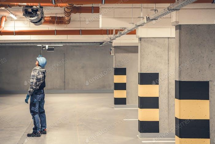 Ventilación de aire de garaje subterráneo Eliminación de aire contaminado