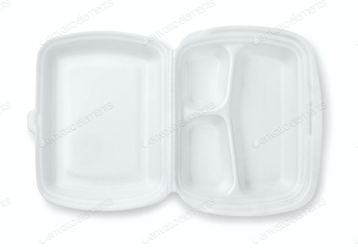 Offener, geschäumter Dreifach-Mahlzeitbehälter