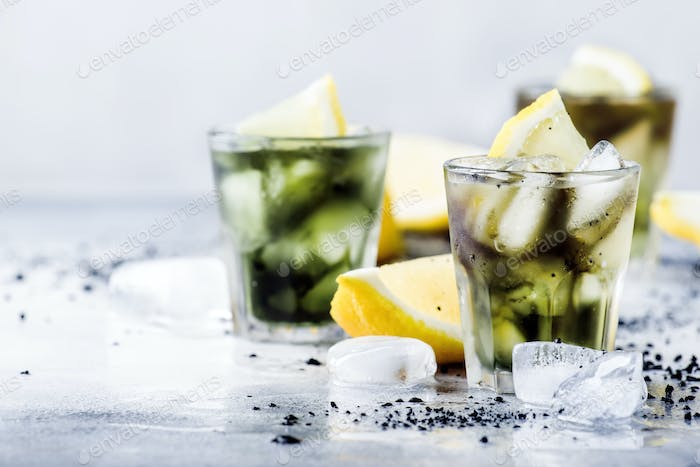 iced black detox mineral water