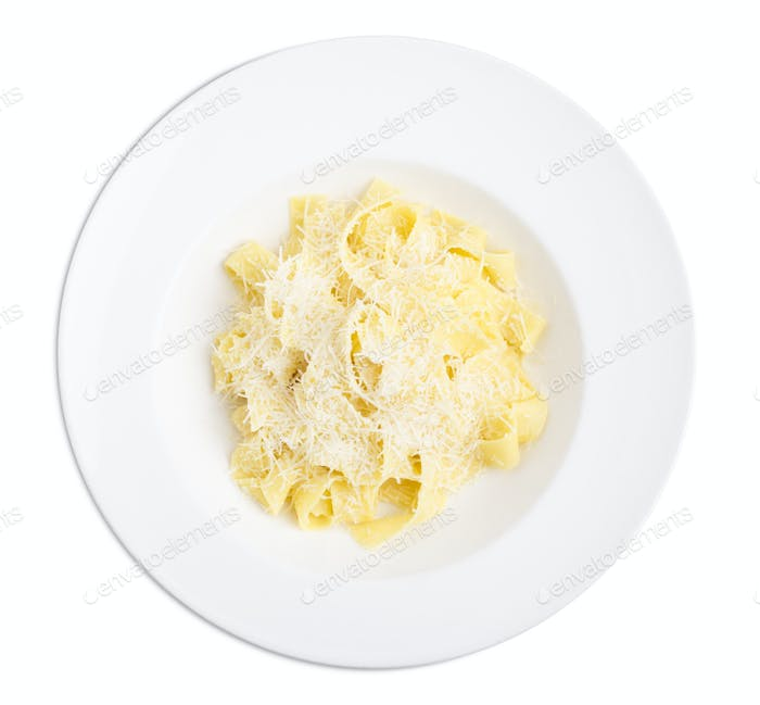 Fettuccini with parmesan.