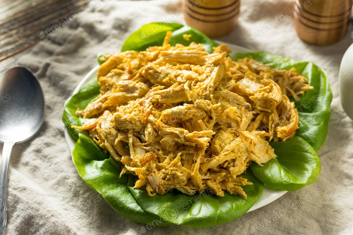 Homemade Curried Coronation Chicken with Lettuce