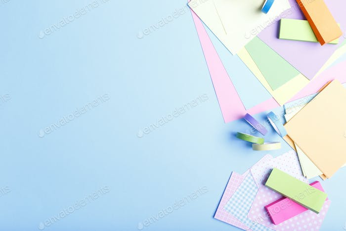 Colorful Paper and stickers