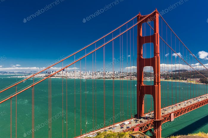 Day time shot of Golden Gate Bridge in San Francisco, California