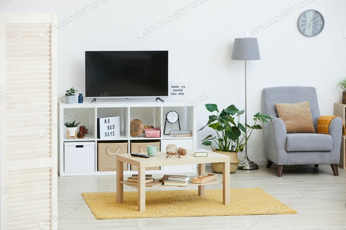 Modern apartment with furniture