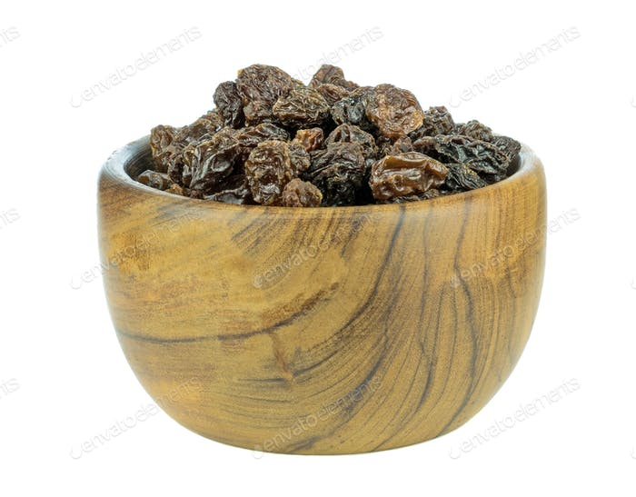 A Wooden Bowl of Sultanas