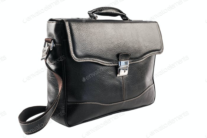 Woman leather bag isolated