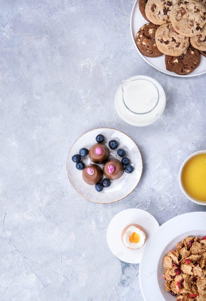 Home made crunch breakfast