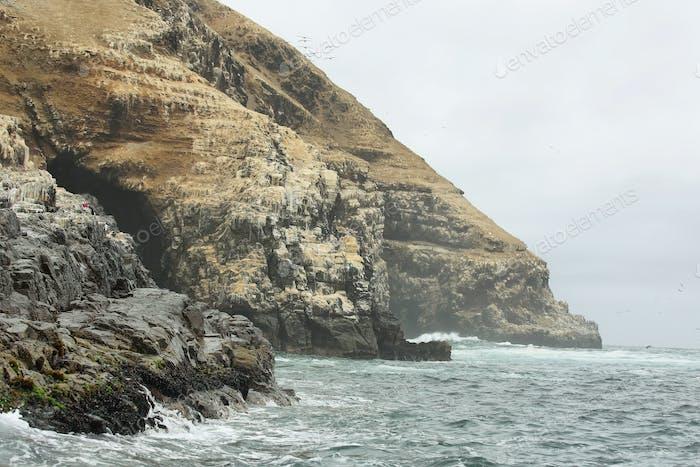 Cliffs near Pucusana, Peru