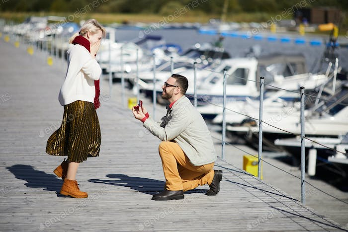 Romantic Proposal With Ring