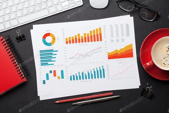 Tabla de trabajo de Office con informes