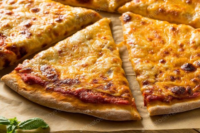 Homemade Greasy New York Cheese Pizza