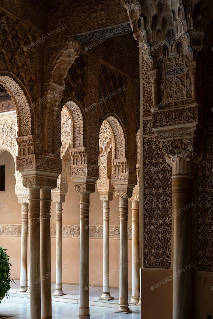 Maurische Bögen in der Alhambra