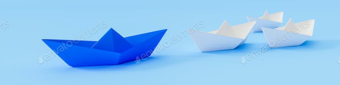 a blue boat and some white