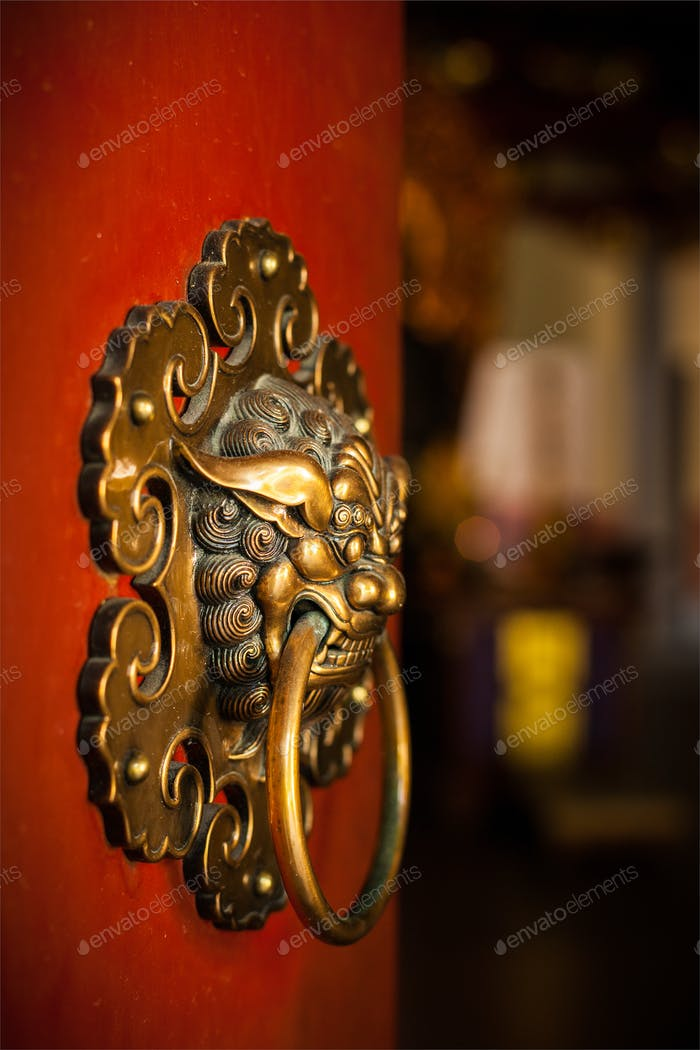 Doorknob of the Buddhist temple