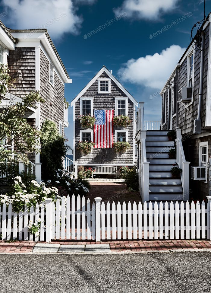 USA-Flagge in Provincetown, Massachusetts