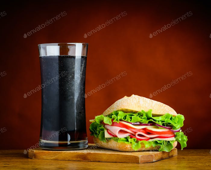 Sandwich with Cold Cola