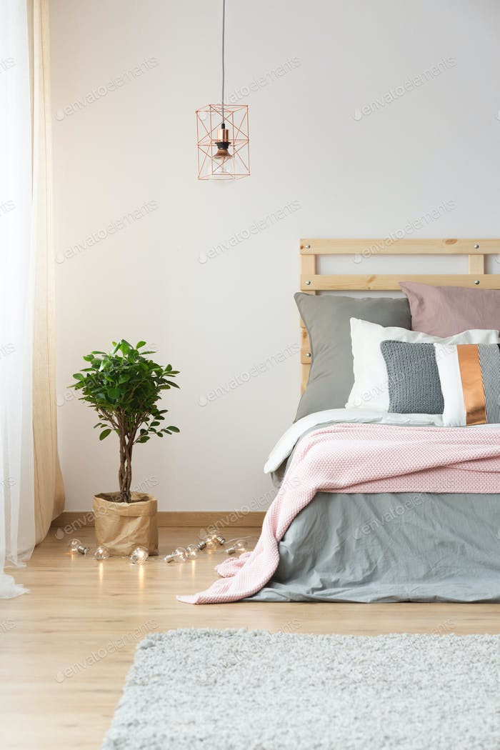 Modern decoration in bedroom