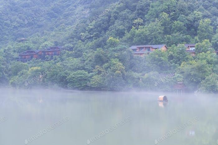 beautiful fuchun river scene