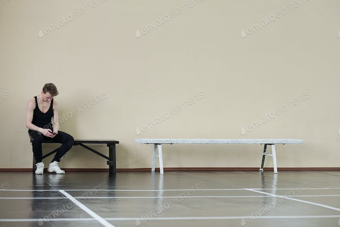 Dancer Having Break