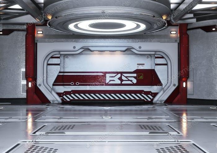 Raumschiff-Innenraum