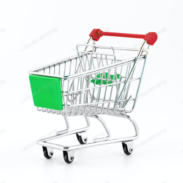 Small metal shopping cart
