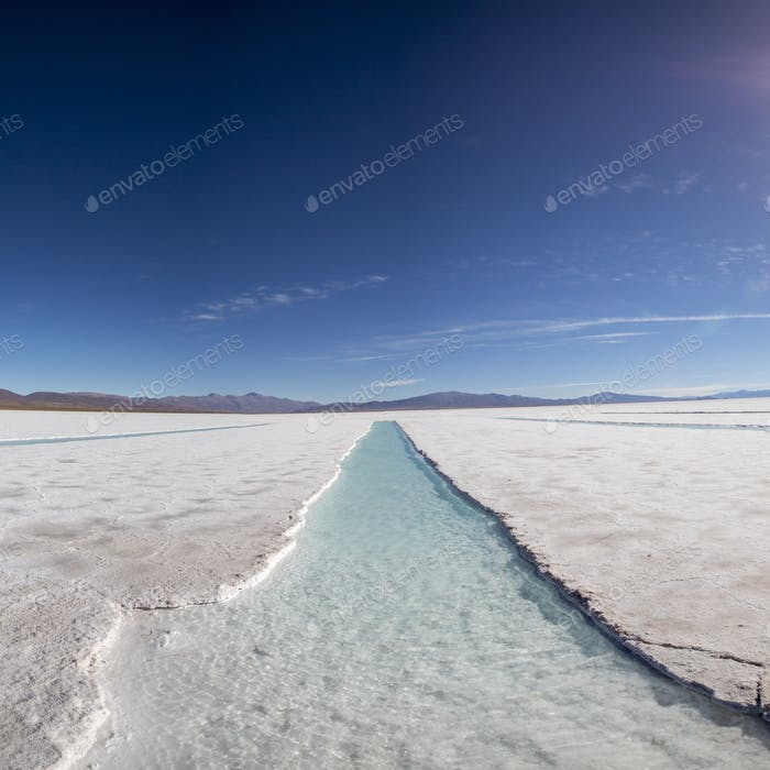 Salt desert in the Jujuy Province, Argentina