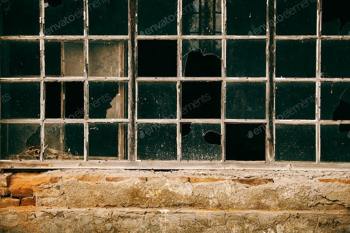Old window abandoned building