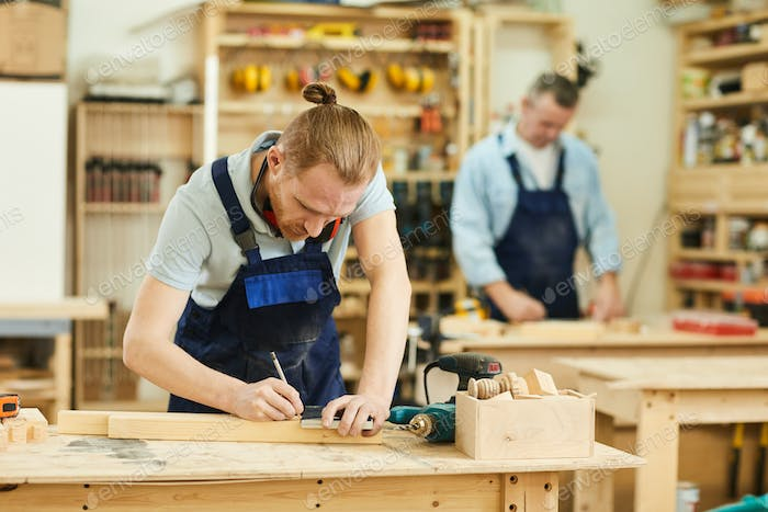 Two Workers in Carpentry