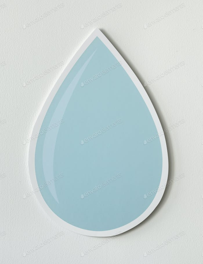 Thumbnail for Water drop cut out icon