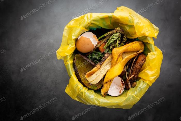 Abfälle von organischen Lebensmitteln