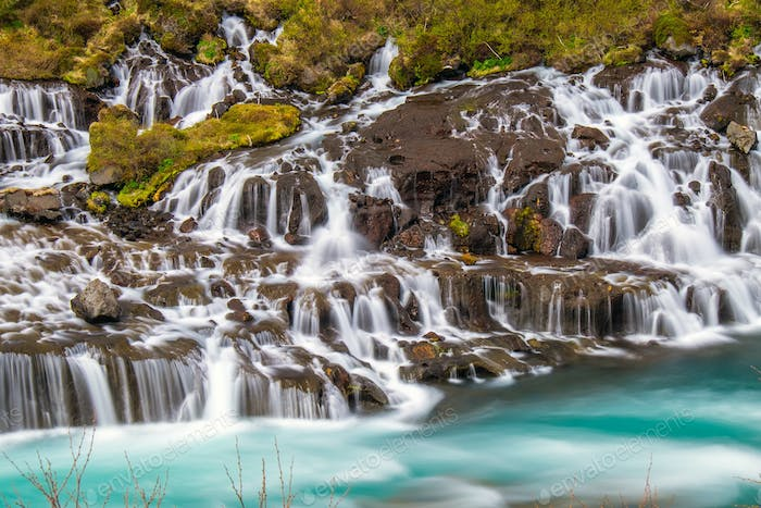 The amazing Hraunfossar in Iceland