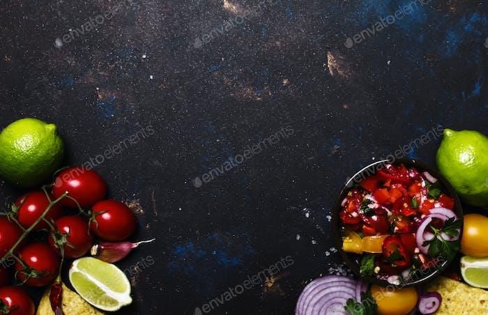 Nachos, Salsa-Sauce