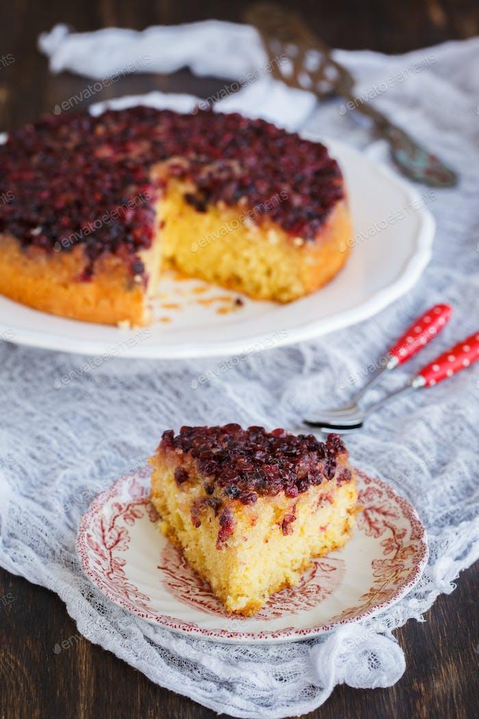 Pie with cranberries