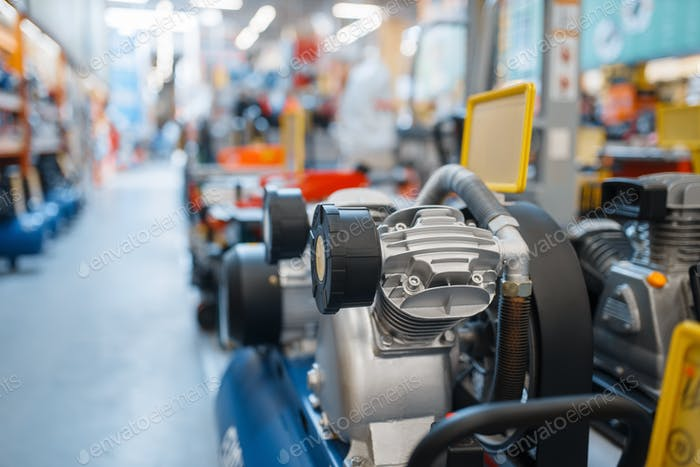 Hardware store assortment, air compressors