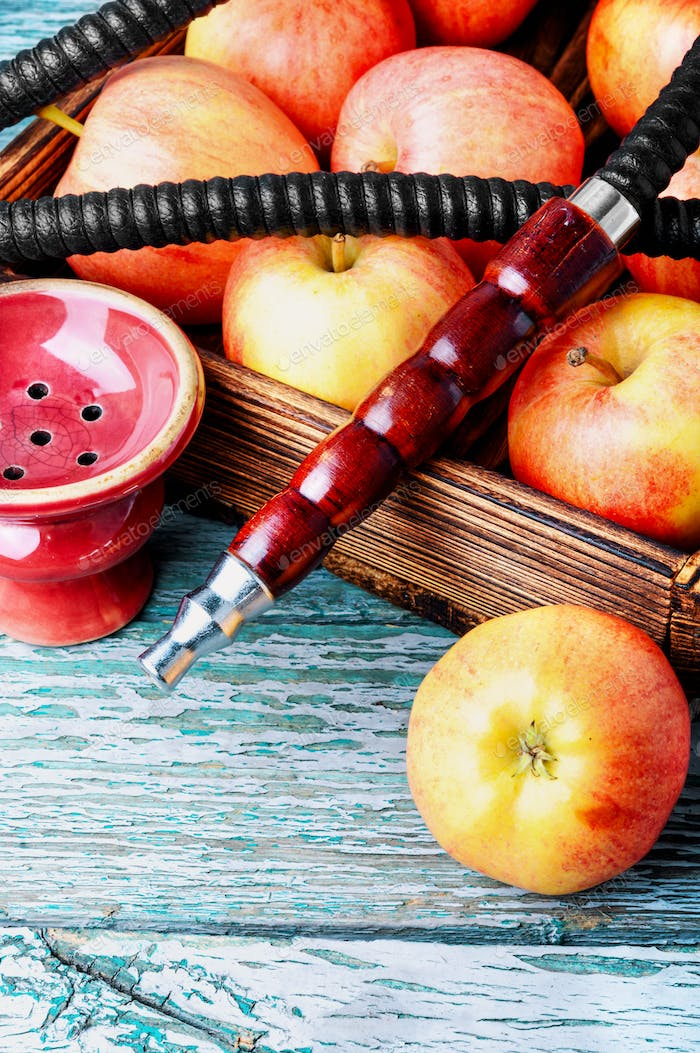 Shisha hookah with apple