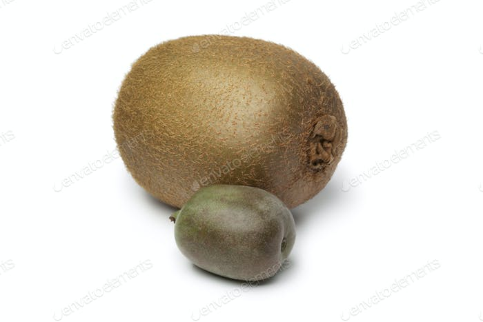 Whole kiwi fruit and kiwi berry