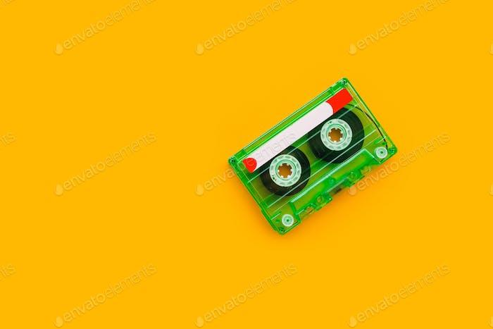 Draufsicht der Audio assette