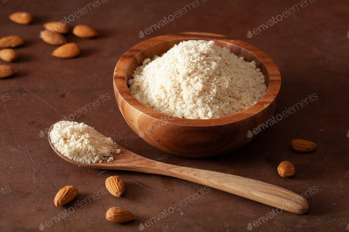 almond flour. healthy ingredient for keto paleo gluten-free diet