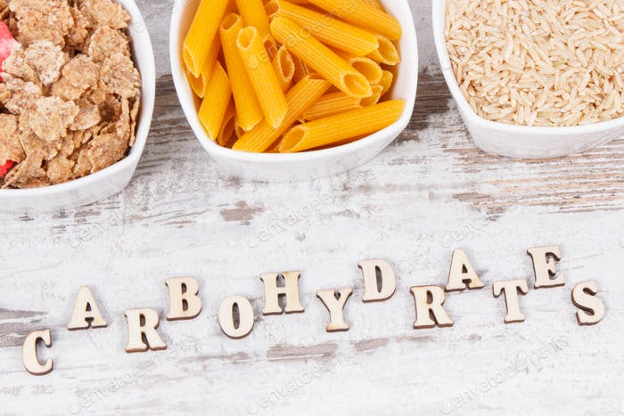 Inscription carbohydrates with natural ingredients and products as source vitamins