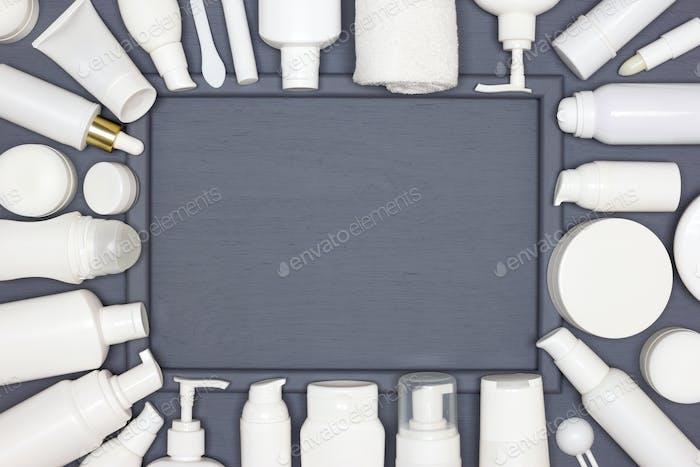 Hautpflege Kosmetik Rahmen Mock-up Hintergrund