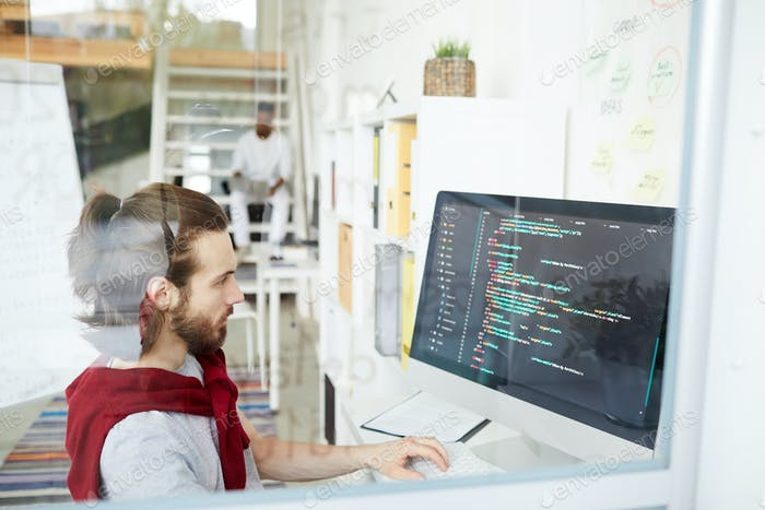 Programmer in office