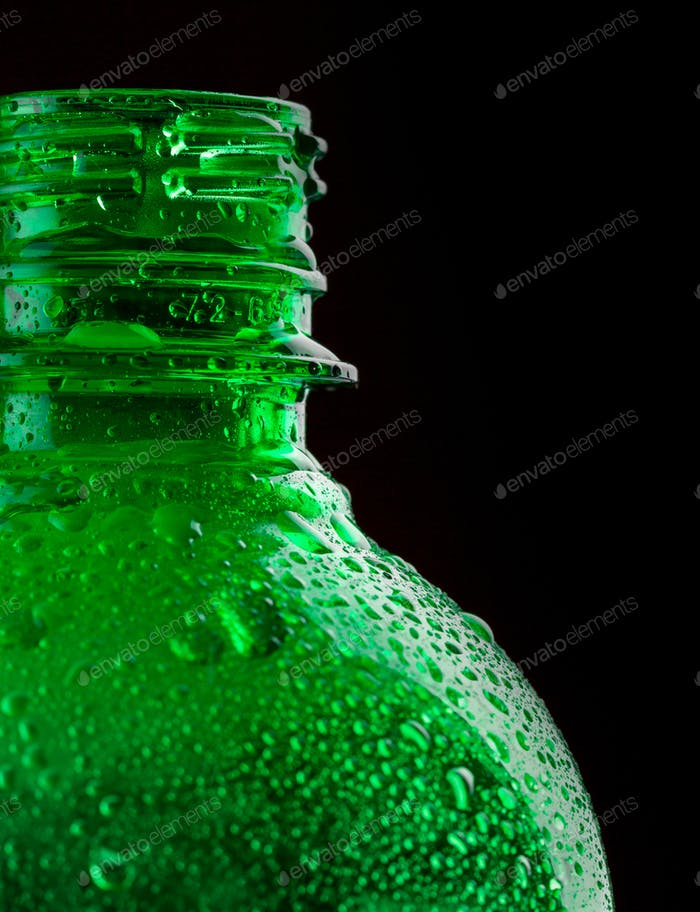 Water bottle closeup