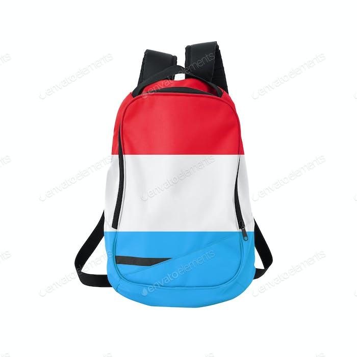 Rucksack mit Fahne von Luxemburg
