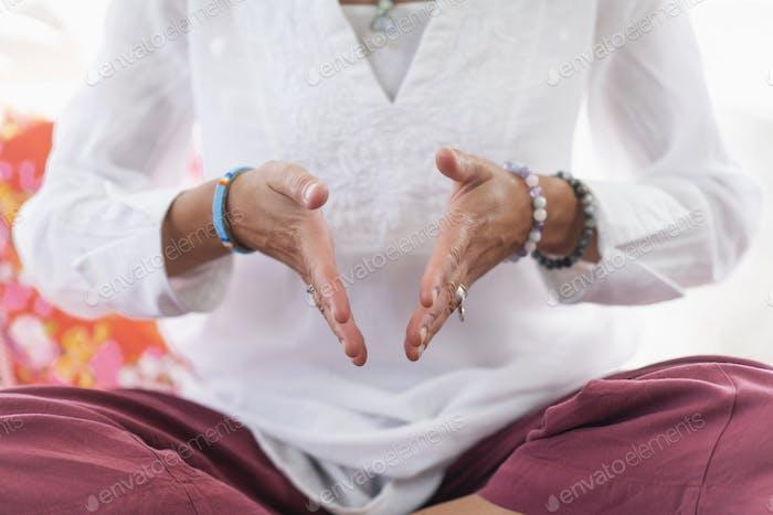 Im Moment sein Meditation Detail