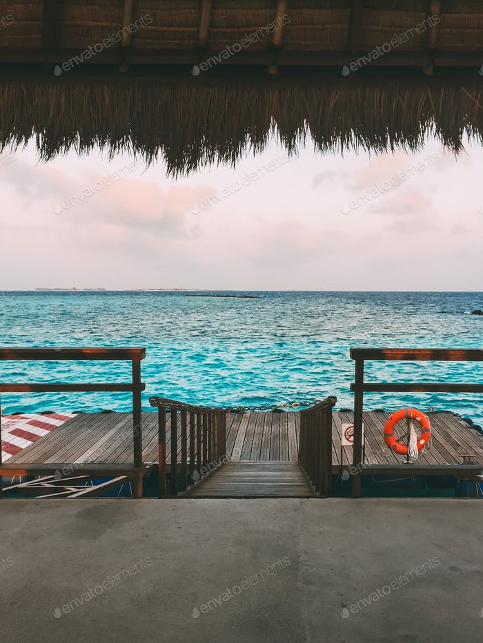 Maldives island luxury resort