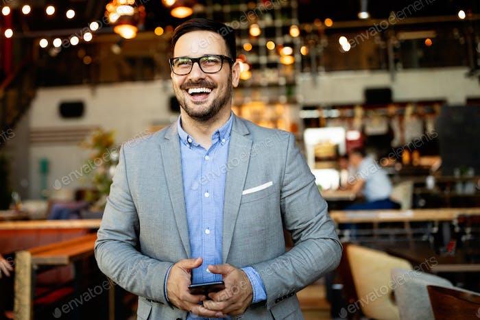 Portrait of an handsome confident business man