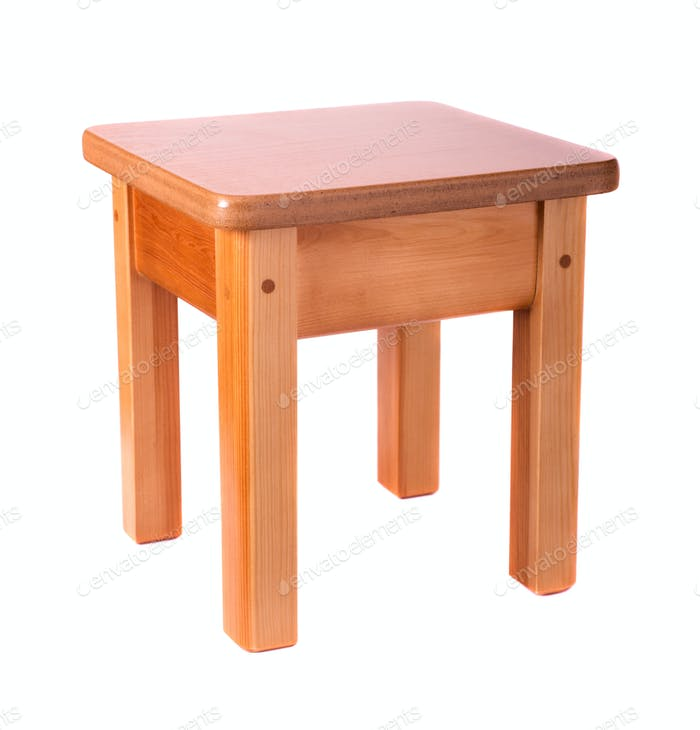Thumbnail for Small wooden stool