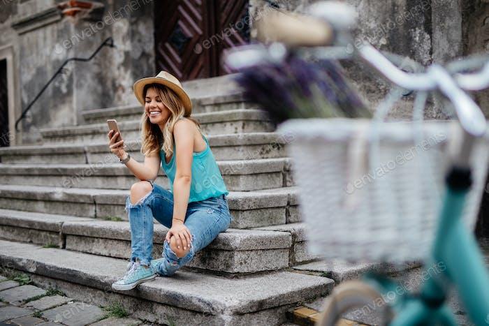 Mensajes de texto en el teléfono