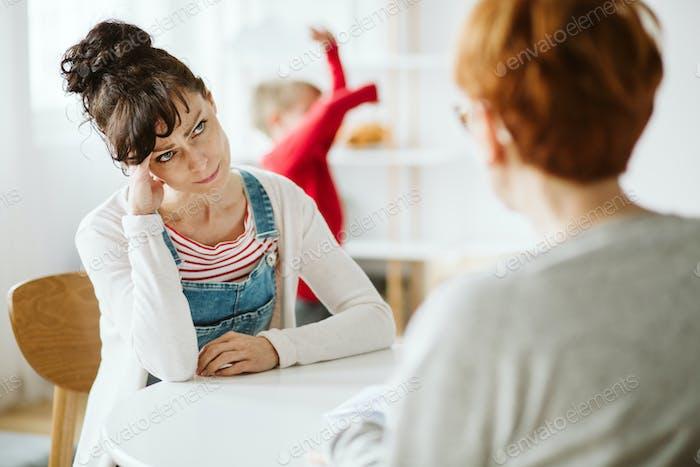 Sitzung mit Therapeuten
